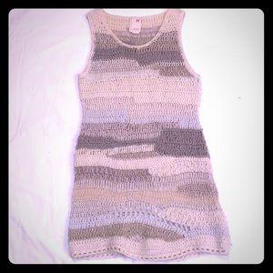 Grey knitted tank dress